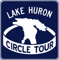 Lake Huron Circle Tour route marker - Ontario